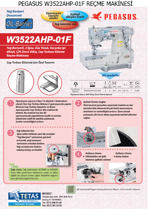 PEGASUS W3522AHP-01F REÇME MAKİNESİ TETAS